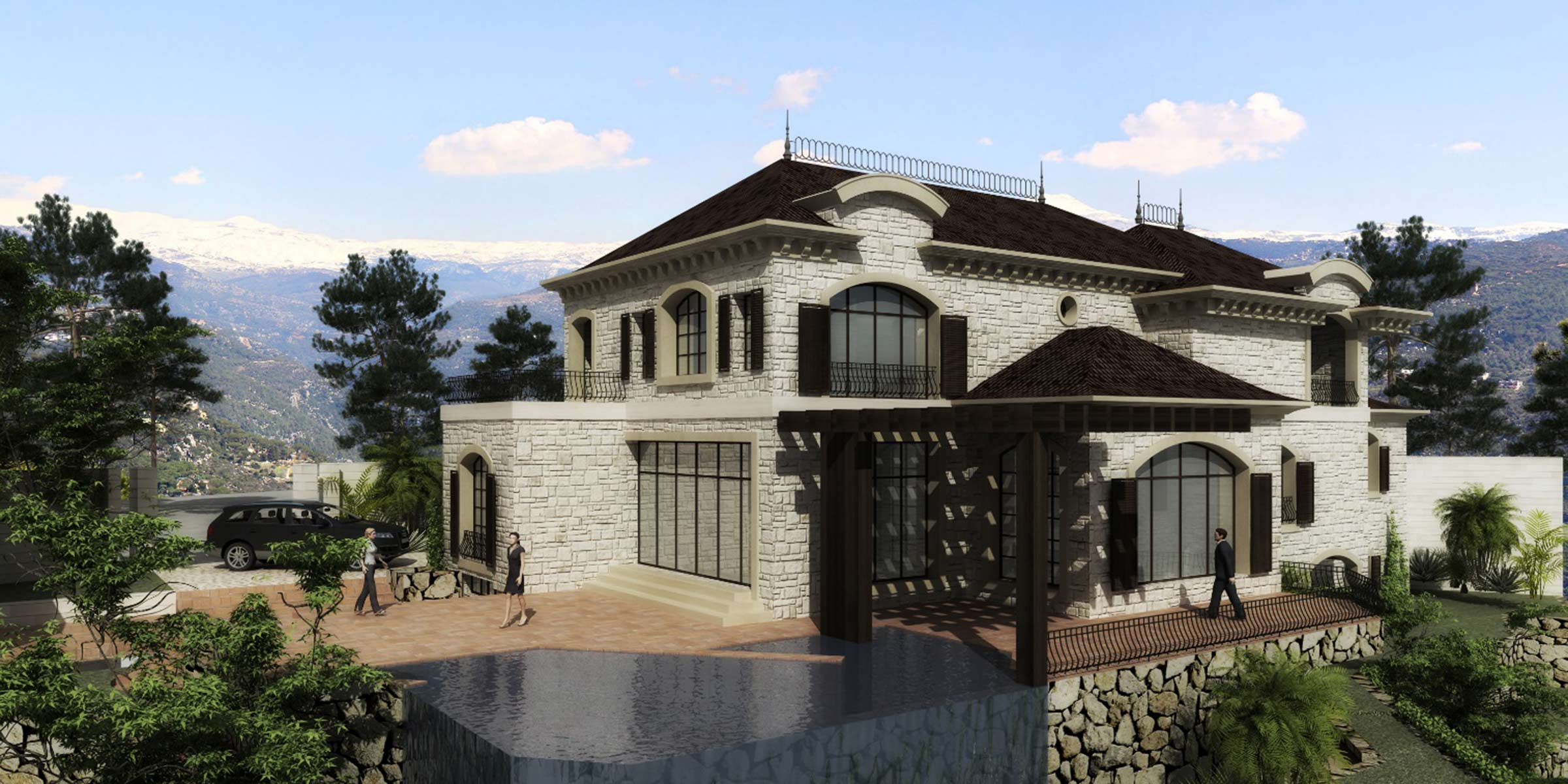 Private residences villas - Libanese villa ...